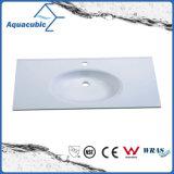 Bacia de lavagem de superfície contínua popular do banheiro de Polymarble