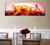 Peinture d'huile de fleurs décoratives-3