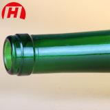 ガラス緑のびんのシャンペンガラスのブランデーのびん