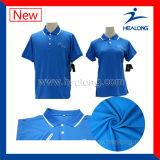 Le prix bon marché de constructeur de la Chine vêtx des chemises de polo de Mens de sublimation