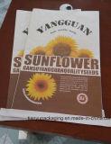Die genähten Sonnenblumensamen öffnen Mund-Papierbeutel-geklebten geöffneter Mund-Papierbeutel