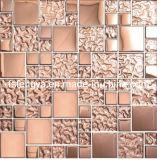 Mosaicos de cristal decoração, fios de aço inoxidável de ladrilhos, mosaicos de azulejos em mosaico (YXM04M)
