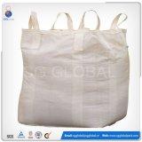 Grand sac tissé par pp blanc pour la saleté de l'emballage 1000kg