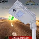 indicatore luminoso di via solare esterno di 6W LED con IP65 diplomato