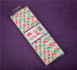 Красный и белый документ питьевой соломы пластиковые трубочки FDA бумаги трубочки