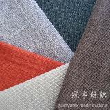 Slub Linen 100% Polyester avec Fr Traitement pour Sofa