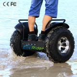 電気スクーターの電気一人乗り二輪馬車のオートバイのバランスをとっている2つの車輪の自己