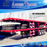 2-3 as 35-50t Container Dedicated Flat Lowbed Semi Trailer (geschikt voor 40 voet container) (LAT9350TJZG)
