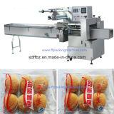 De China directo del fabricante empaquetadora Multi- automática del flujo del pan de la fila por completo