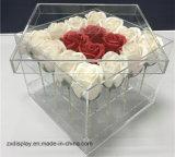 Casella acrilica elegante della Rosa del contenitore di fiore