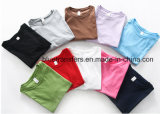 Les femmes 100% de coton de Gildan 180g court- les T-shirts ordinaires de chemise