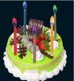 색깔 화염 생일 초