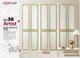 Schuifdeur de van uitstekende kwaliteit van de Garderobe van de Reeks van het Blind van pvc van het Ontwerp Morden (yg-007)
