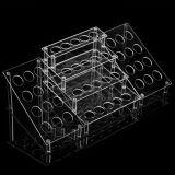 Présentoir acrylique personnalisé de produits de beauté d'espace libre neuf de modèle