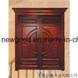 Porte en bois solide pour des villas, porte principale de villa, porte de pièce de villa