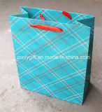 Hot Grid Printed Packing Paper Bag for Clothes