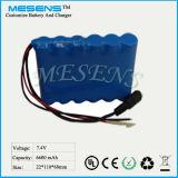 7.4V 6600mAh Li-Ionbatterie für Solarstraßenbeleuchtung