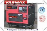 Yarmax preiswerte einzelne Zylinder-leise Luft abgekühlter Dieselgenerator Ym6500t