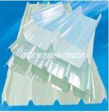 FRP effacent les feuilles en plastique transparentes de fibre de verre de panneaux ondulés de toit