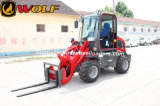 China 4WD Diesel EPA Engine Zl08 Loader with Bobcat Attachments