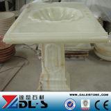 Китай хорошо продаж белой мраморной раковиной