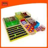 38X33X4.9m Mich Cancha de baloncesto de diferentes colores trampolín para los niños