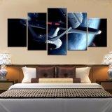 5 لون [ستر ور] [سترفيغتر] ملصقة غرفة [دك] يزيّن صورة زيتيّة على نوع خيش طبعة حديثة بينيّة يعيش غرفة [دك] جدار فنية ملصقة