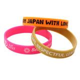 Haut de page de promotion de la qualité de l'encre gravé personnalisé rempli bracelet en silicone