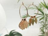 Индия Рынок Имитация золота латунный круг Earring