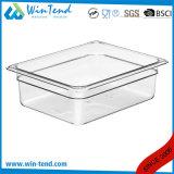Venta caliente certificado sin BPA de plástico transparente de cocina Restaurante Tamaño contenedores Gastronorm 1/1