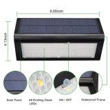 48의 LED 태양 정원 빛 800 루멘 안뜰, 갑판, 뒤뜰을%s 옥외 방수 무선 레이다 운동 측정기 안전 벽 빛