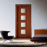 Balanço dobro porta de madeira de vidro arqueada para o quarto interior