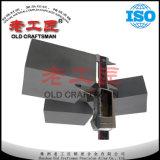 De wolfram Gecementeerde Gevoerde Plaat van het Carbide Slijtage voor de Kromming van het Poeder van de Steenkool