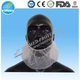Masque non-tissé remplaçable de couverture de barbe blanche de transformation des produits alimentaires Sanitory