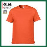 T-shirt rond de collet de coton fait sur commande de qualité pour les hommes