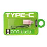 Adaptador de corriente tipo de conversión de OTG Plus Cargador Cable USB (rosa de oro)