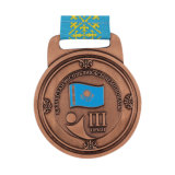 아연 합금은 반짝임을%s 가진 주물 금속 메달 회전시키는 메달을 정지한다