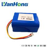 7,4 V 6600mAh 18.650 Li-ion para LED