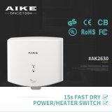 Do banheiro energy-saving do corpo do ABS de Eco do certificado do CE secador pequeno de alta velocidade da mão do ar do jato único para o hotel e o restaurante (AK2630)