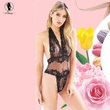 De nouvelles couleurs de Lingerie Sexy Hot 2 point de vue de la Dentelle nuisette sexy Teddy licou de lingerie rose broderie lingerie érotique