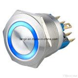 22mm Non-Hanno illuminato l'interruttore resistente del metallo del pulsante del vandalo momentaneo