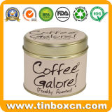 Олов кофеего жестяной коробки металла коробки хранения упаковки еды круглые