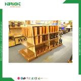 Supermercado de madera soporte de vegetales y frutas Mostrar Rack