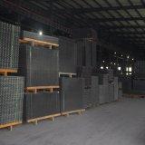 2X2は鋼鉄によって溶接された金網のパネルに電流を通した