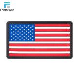 De goma suave personalizada bandera de Estados Unidos el Parche de PVC de EE.UU.