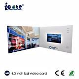 Дела брошюры приветствию конструкции высокого качества экрана 4.3 дюймов карточка нового видео- видео-