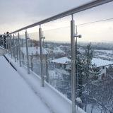 Het openlucht Traliewerk van het Glas van het Roestvrij staal van het Balkon