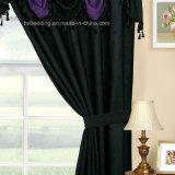 Tenda scura della casella del Rod di disegno di Valance vino rosso viola/