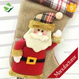 Navidad colgante del regalo 3D de Santa de las decoraciones de las medias de la Navidad pega el regalo del caramelo