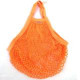 Häkelarbeit-NettoEinkaufstasche, Baumwollineinander greifen-Beutel 100% mit der Hand stricken